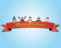 Fundo do cartaz do Natal com todas as celebridades do Natal Imagens de Stock Royalty Free
