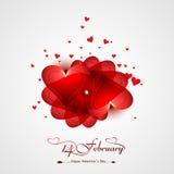 Fundo do cartão do dia de Valentim para a celebração colorida Fotografia de Stock