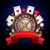 Fundo do casino com elemento de jogo Foto de Stock