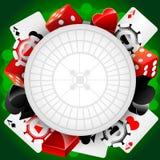 Fundo do casino do vetor Fotos de Stock Royalty Free