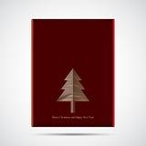 fundo do caso da tampa do cartão de Natal com polígono da árvore de Natal Fotos de Stock