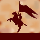 Fundo do cavaleiro da bandeira ilustração stock