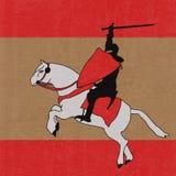 Fundo do cavaleiro preto ilustração royalty free