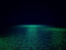 Fundo do código binário 3d Fotografia de Stock