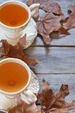 Fundo do chá do outono Fotografia de Stock