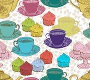 Fundo do chá do vintage. teste padrão sem emenda Fotografia de Stock Royalty Free