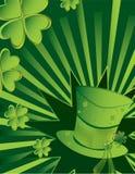 Fundo do chapéu do dia do St Patrick ilustração stock
