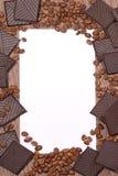 Fundo do chocolate dos feijões de café Fotografia de Stock Royalty Free