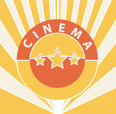 Fundo do cinema Fotos de Stock Royalty Free