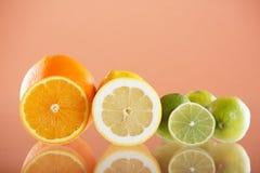 Fundo do citrino Fotografia de Stock Royalty Free
