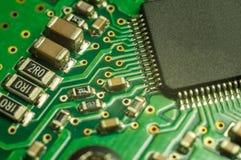 Fundo do close up da placa de circuito eletrônico Foto de Stock