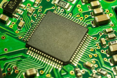 Fundo do close up da placa de circuito eletrônico Fotografia de Stock