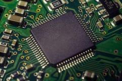 Fundo do close up da placa de circuito eletrônico Fotos de Stock