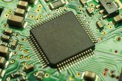 Fundo do close up da placa de circuito eletrônico Imagem de Stock