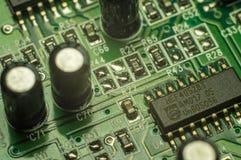 Fundo do close up da placa de circuito eletrônico Imagens de Stock