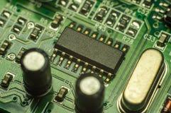 Fundo do close up da placa de circuito eletrônico Fotografia de Stock Royalty Free