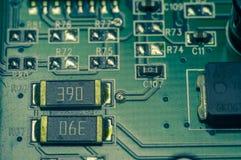 Fundo do close up da placa de circuito eletrônico Foto de Stock Royalty Free