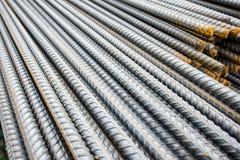 Fundo do close-up das barras de aço Foto de Stock Royalty Free