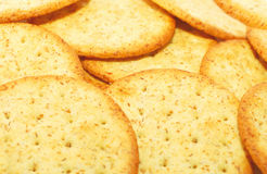 Fundo do close up dos biscoitos. Foto de Stock Royalty Free