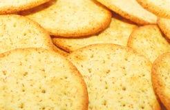 Fundo do close up dos biscoitos. foto de stock royalty free