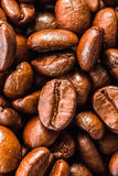 Fundo do close up dos feijões de café imagem de stock