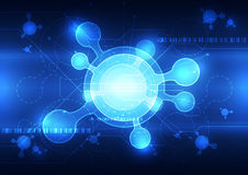 Fundo do conceito da ciência da tecnologia, ilustração do vetor ilustração do vetor