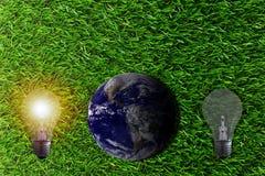 Fundo do conceito da ecologia Foto de Stock