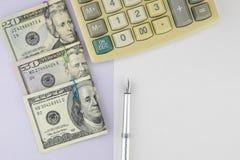 Fundo do conceito da finança pessoal Fotos de Stock Royalty Free