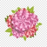 Fundo do conceito da flor fresca da camélia, estilo dos desenhos animados ilustração stock