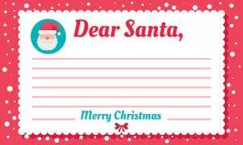 Fundo do conceito da letra de Santa, estilo liso ilustração stock