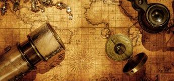 Fundo do conceito da navegação da geografia do curso Foto de Stock Royalty Free