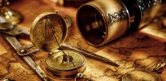 Fundo do conceito da navegação da geografia do curso Foto de Stock