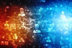 Fundo do conceito da rede do negócio, redes sociais e conceito da interação fotos de stock