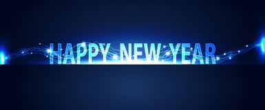 Fundo do conceito da tecnologia do ano novo feliz ilustração royalty free