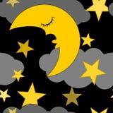 Fundo do conceito das ilustrações do céu noturno Foto de Stock Royalty Free