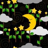 Fundo do conceito das ilustrações do céu noturno Fotografia de Stock Royalty Free