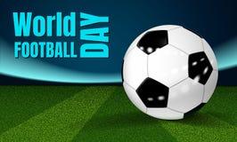 Fundo do conceito do dia do futebol, estilo realístico ilustração do vetor