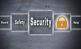 Fundo do conceito do écran sensível da segurança foto de stock royalty free