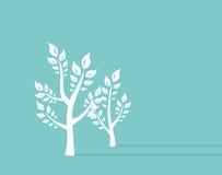 Fundo do conceito do eco do crescimento de Ttree Ilustração retro do vetor do conceito ilustração royalty free