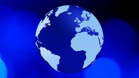 Fundo do conceito do mapa do mundo da introdução ilustração do vetor