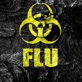 Fundo do conceito do virus da gripe Foto de Stock