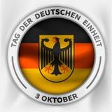 Fundo do conceito do einheit de Deutschen, estilo isométrico ilustração do vetor