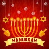 Fundo do conceito do Hanukkah, estilo dos desenhos animados ilustração stock