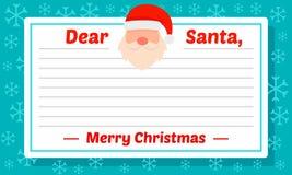 Fundo do conceito do molde da letra de Santa, estilo liso ilustração royalty free