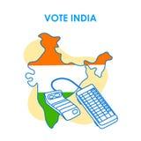 Fundo do conceito para a Índia do voto para a bandeira da campanha da democracia da eleição ilustração stock