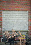 Fundo do concreto e da parede de tijolo Imagem de Stock Royalty Free