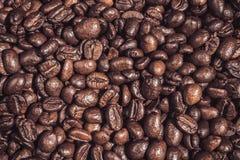Fundo do contexto roasted do alimento dos grãos de café Imagens de Stock Royalty Free