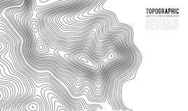 Fundo do contorno do mapa topográfico Mapa do Topo com elevação ilustração do vetor