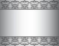 Fundo do convite com beira floral do laço Ilustração Royalty Free