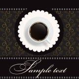 Fundo do convite do café ilustração royalty free